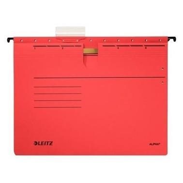 Leitz Telli Alpha Askılı Dosya Kırmızı Renkli
